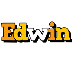 Edwin cartoon logo