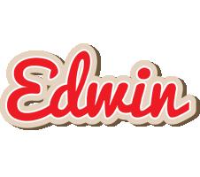 Edwin chocolate logo