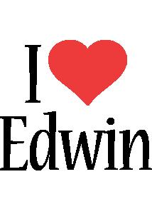 Edwin i-love logo