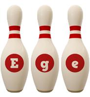 Ege bowling-pin logo