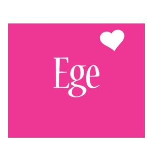 Ege love-heart logo