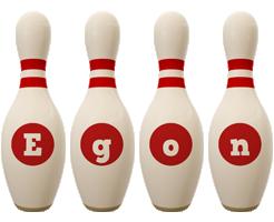 Egon bowling-pin logo