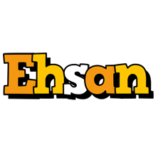 Ehsan cartoon logo