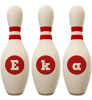 Eka bowling-pin logo