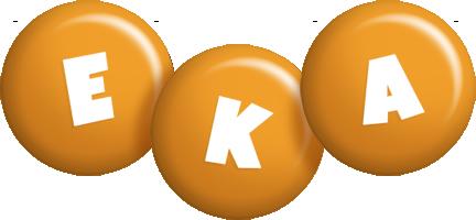 Eka candy-orange logo