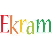 Ekram birthday logo