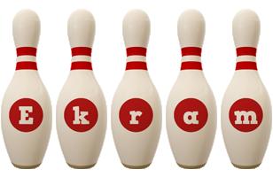 Ekram bowling-pin logo