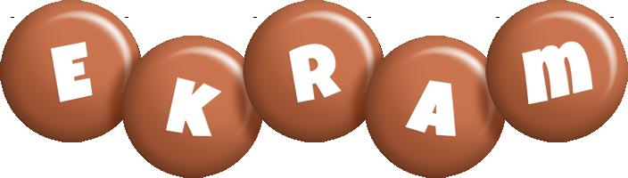 Ekram candy-brown logo