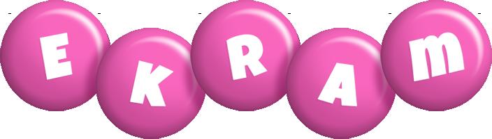 Ekram candy-pink logo