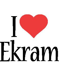 Ekram i-love logo