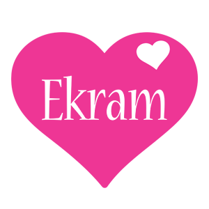 Ekram love-heart logo