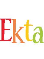 Ekta birthday logo