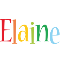 Elaine birthday logo
