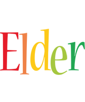 Elder birthday logo