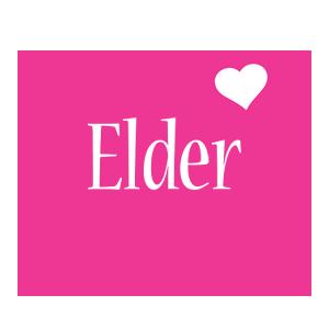 Elder love-heart logo