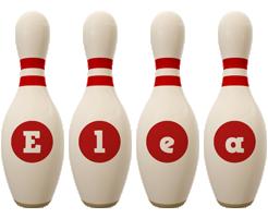 Elea bowling-pin logo