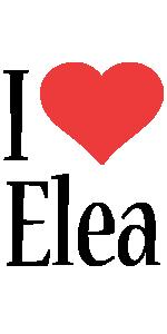 Elea i-love logo