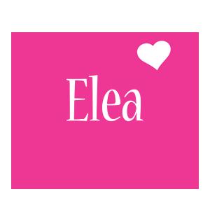 Elea love-heart logo
