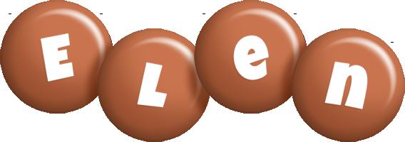 Elen candy-brown logo