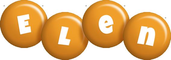 Elen candy-orange logo