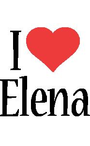 Elena i-love logo
