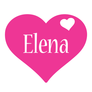 Elena love-heart logo