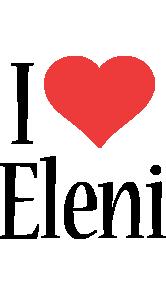 Eleni i-love logo
