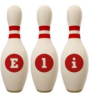 Eli bowling-pin logo