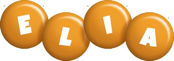 Elia candy-orange logo
