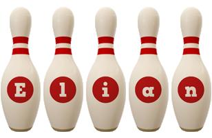 Elian bowling-pin logo