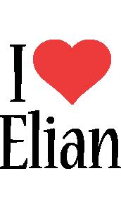 Elian i-love logo