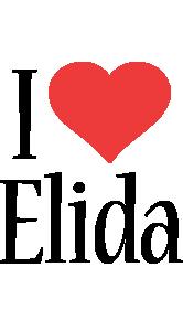 Elida i-love logo