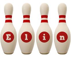 Elin bowling-pin logo