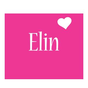 Elin love-heart logo