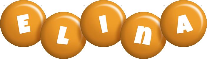 Elina candy-orange logo
