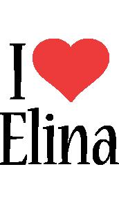 Elina i-love logo