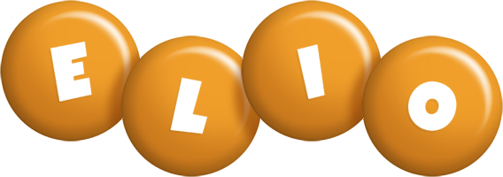Elio candy-orange logo
