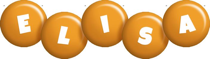 Elisa candy-orange logo