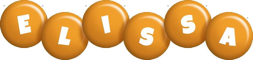 Elissa candy-orange logo