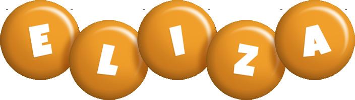 Eliza candy-orange logo