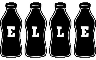 Elle bottle logo