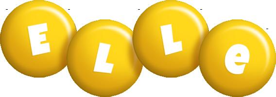 Elle candy-yellow logo