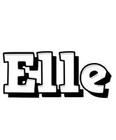 Elle snowing logo