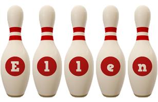 Ellen bowling-pin logo