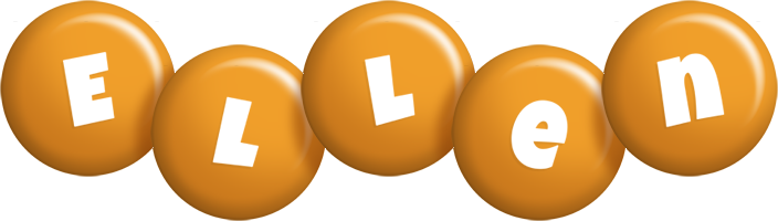 Ellen candy-orange logo
