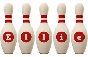 Ellie bowling-pin logo