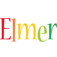 Elmer birthday logo