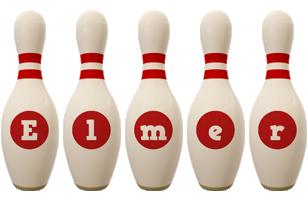 Elmer bowling-pin logo