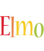Elmo birthday logo