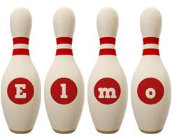 Elmo bowling-pin logo